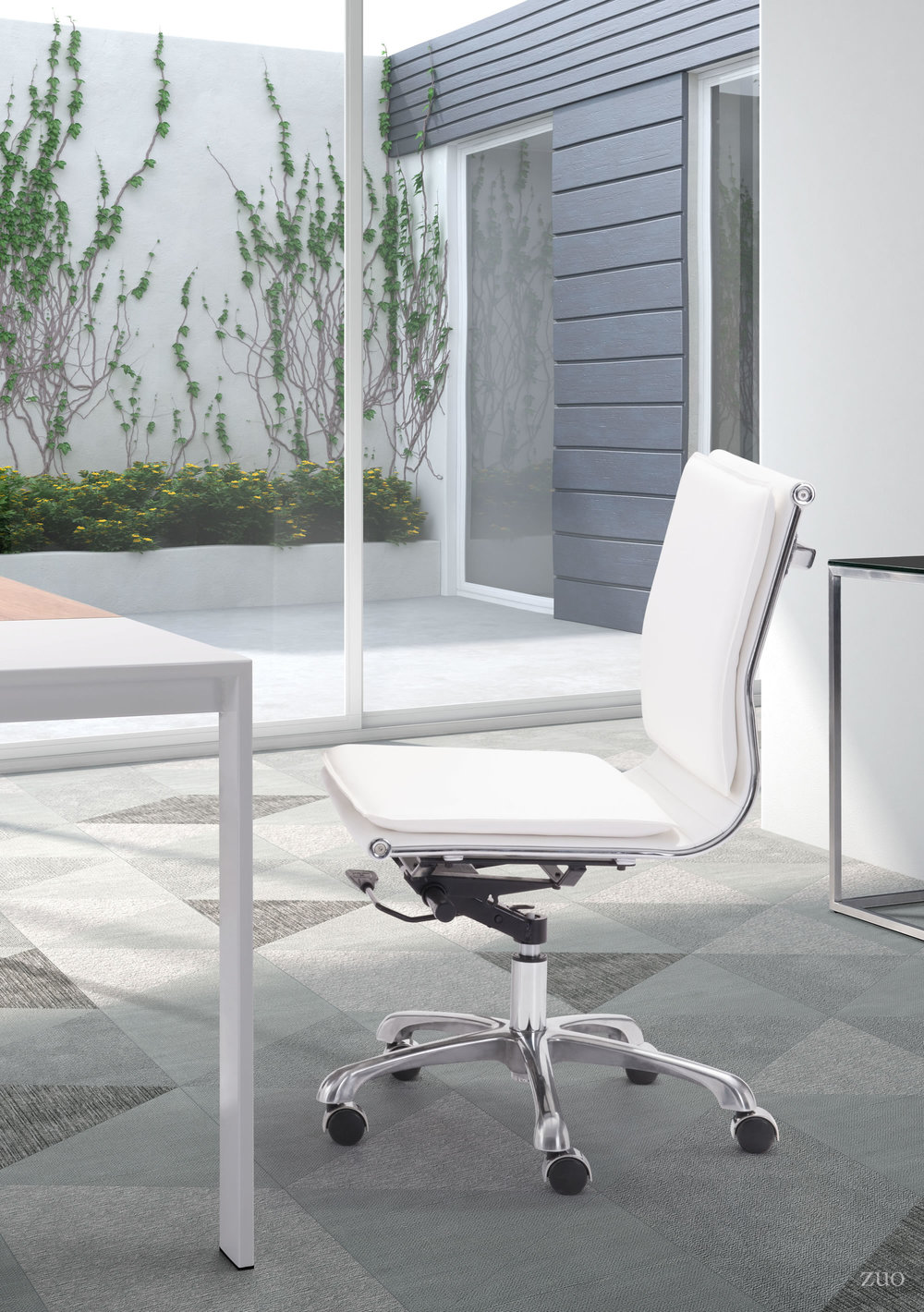 Zuo Modern Contemporary - Lider Plus Armless Office Chair White