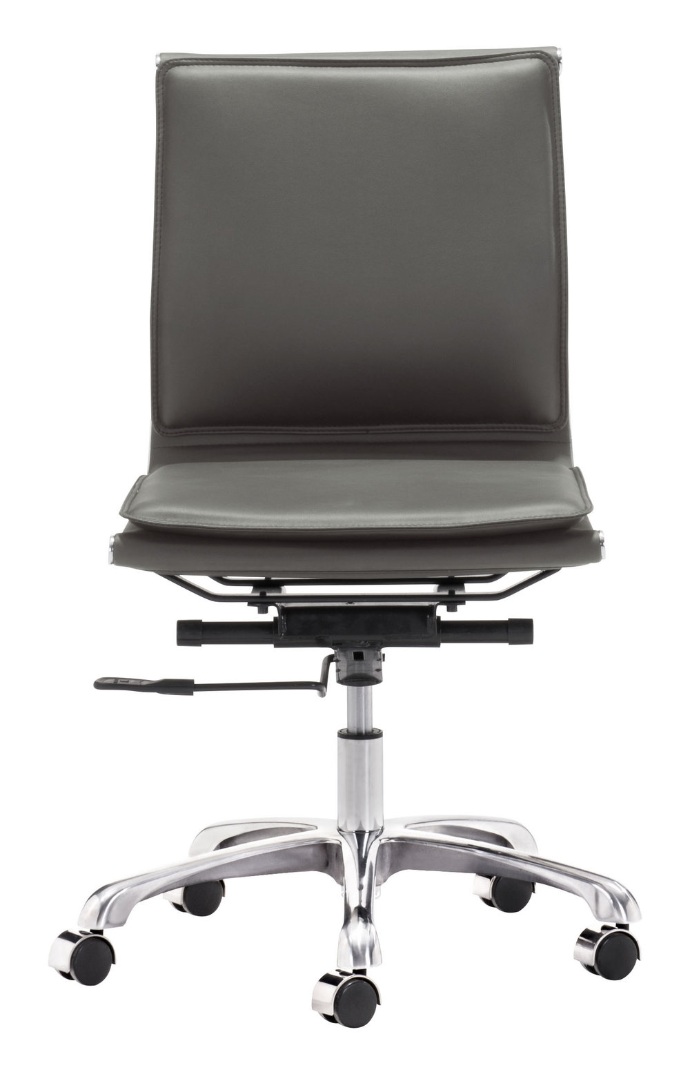 Zuo Modern Contemporary - Lider Plus Armless Office Chair Gray