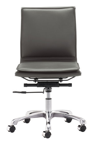 Thumbnail of Zuo Modern Contemporary - Lider Plus Armless Office Chair Gray