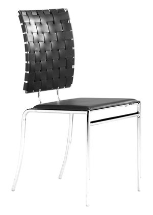 Thumbnail of ZUO MODERN CONTEMPORARY, INC - Criss Cross Dining Chair - Set of 4 - Black