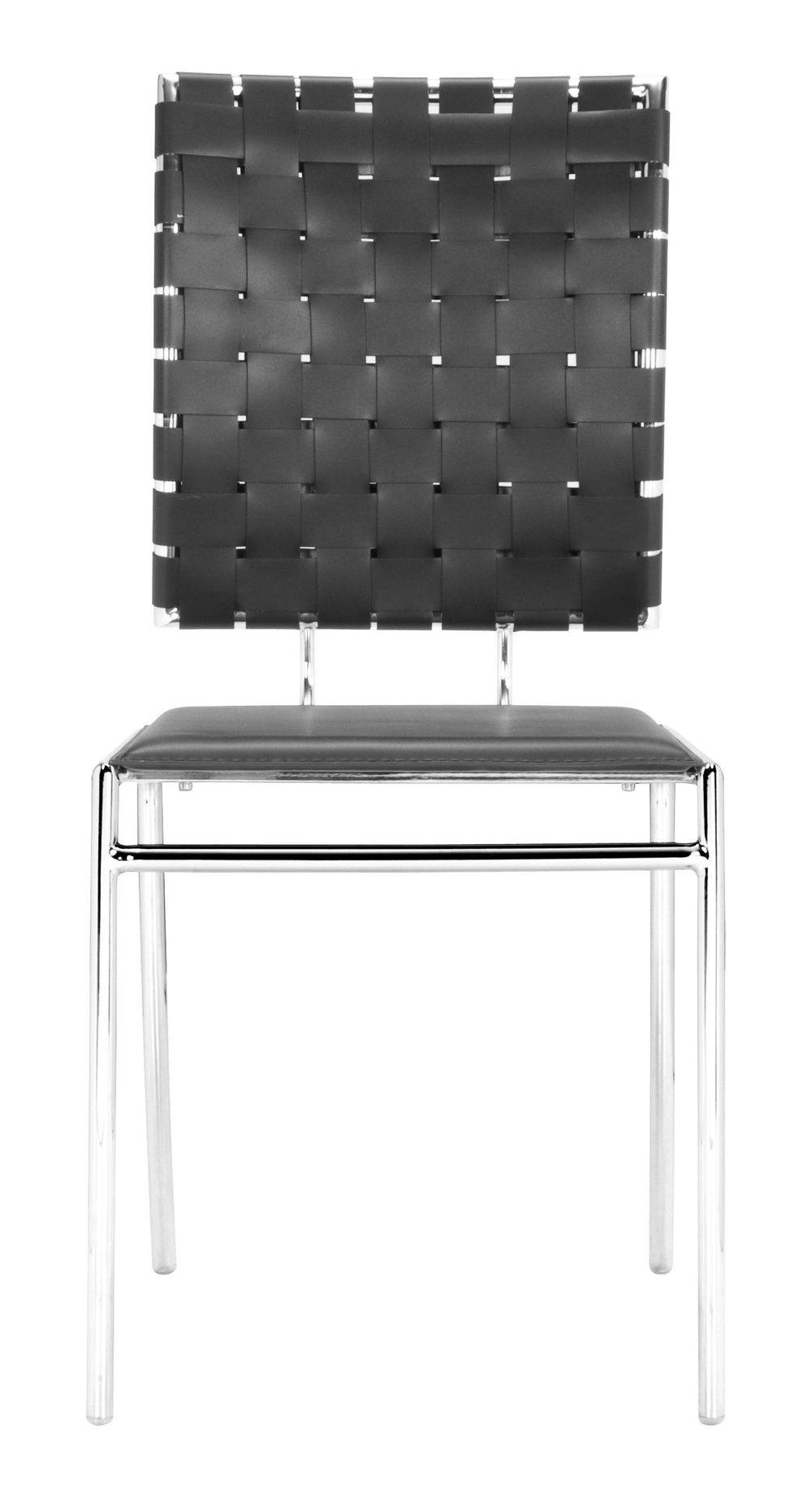 ZUO MODERN CONTEMPORARY, INC - Criss Cross Dining Chair - Set of 4 - Black