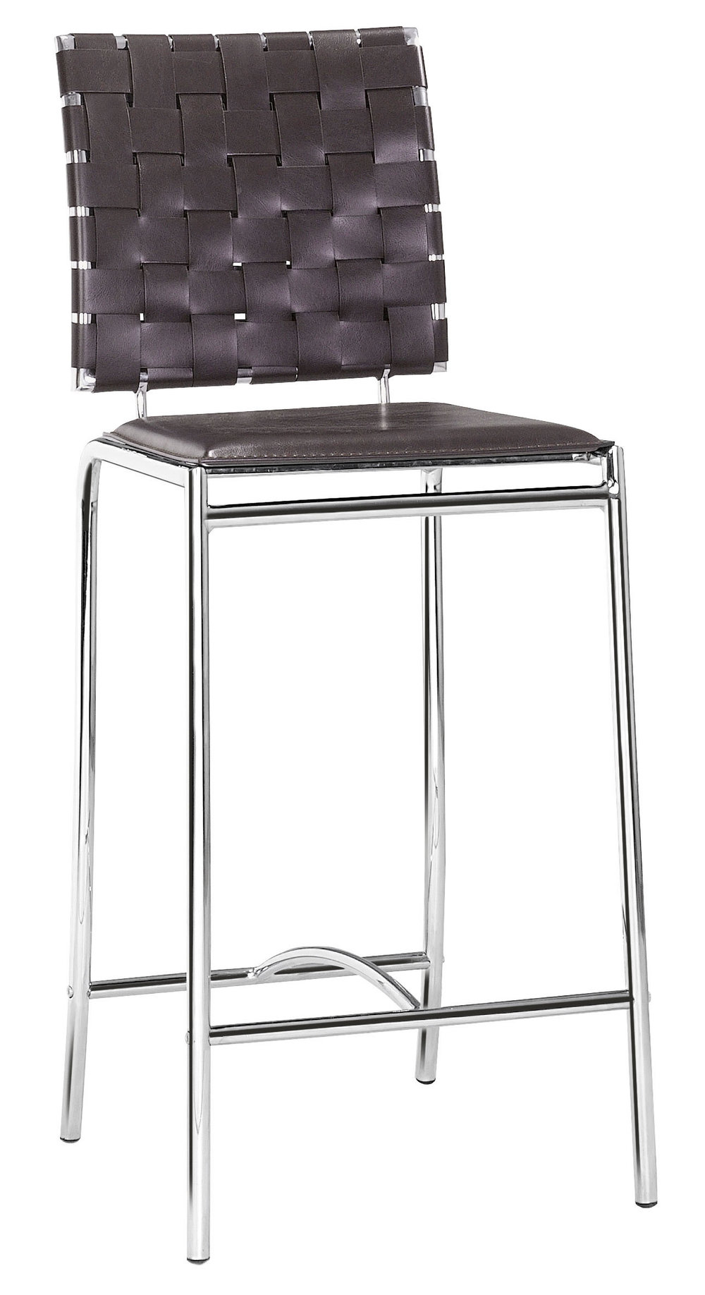 Zuo Modern Contemporary - Criss Cross Counter Chair - Set of 2 - Espresso