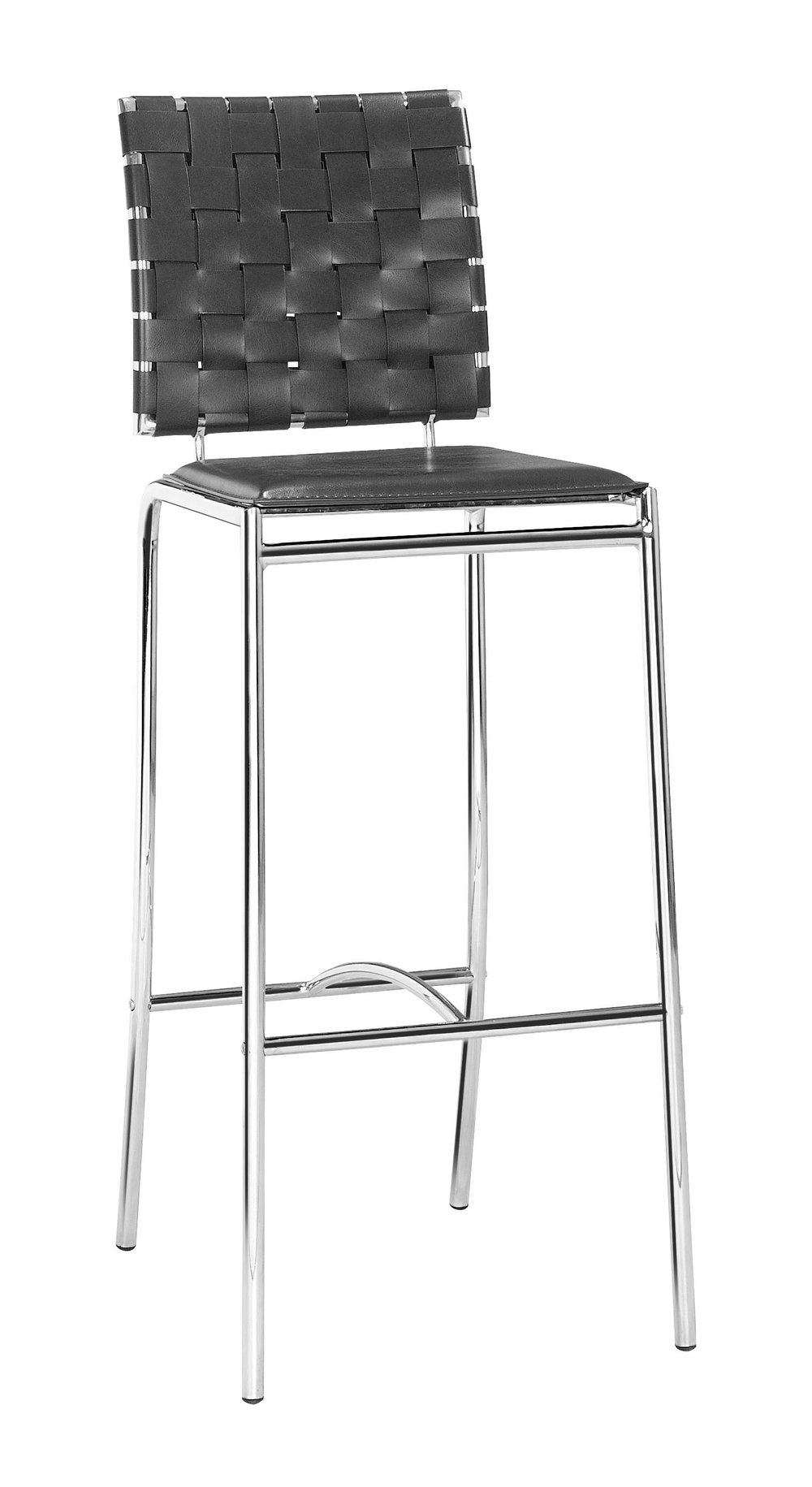ZUO MODERN CONTEMPORARY, INC - Criss Cross Bar Chair - Set of 2 - Black
