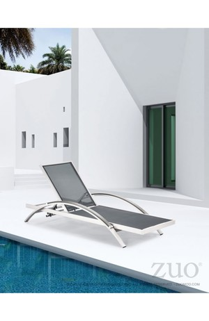 Thumbnail of Zuo Modern Contemporary - Metropolitan Chaise Lounge, Set/2, Brushed Aluminum