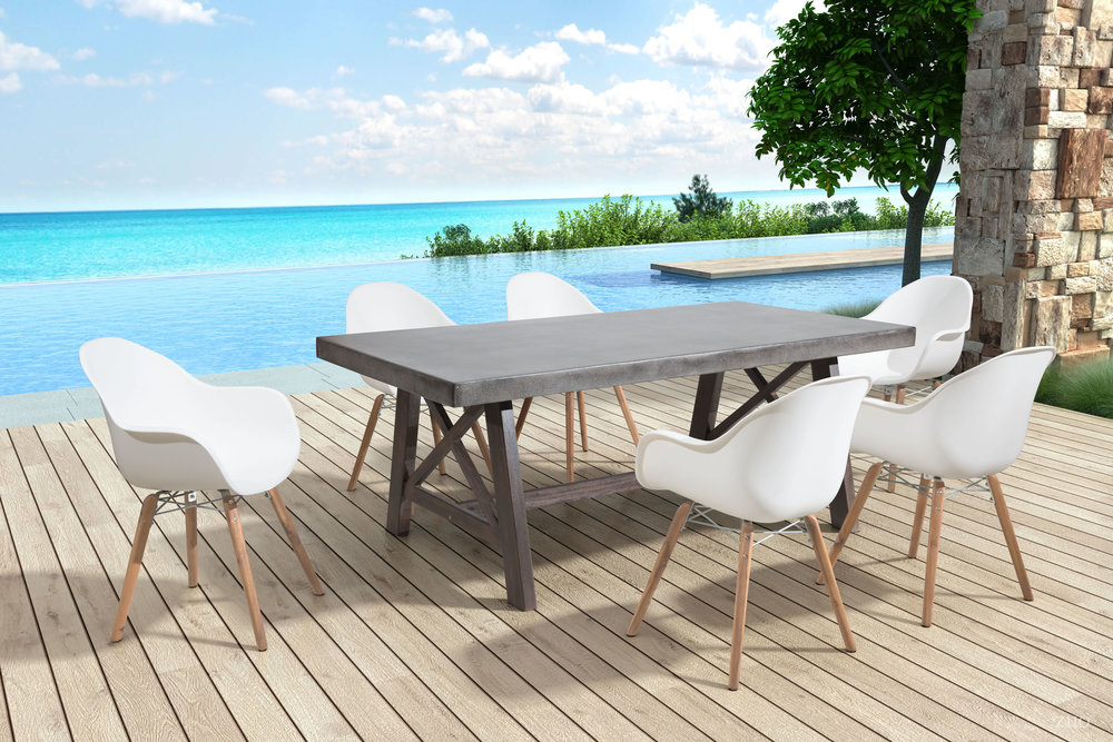 ZUO MODERN CONTEMPORARY, INC - Tidal Dining Chair - Set of 4 - White