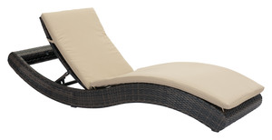 Thumbnail of Zuo Modern Contemporary - Pamelon Beach Chaise Lounge Brown & Beige