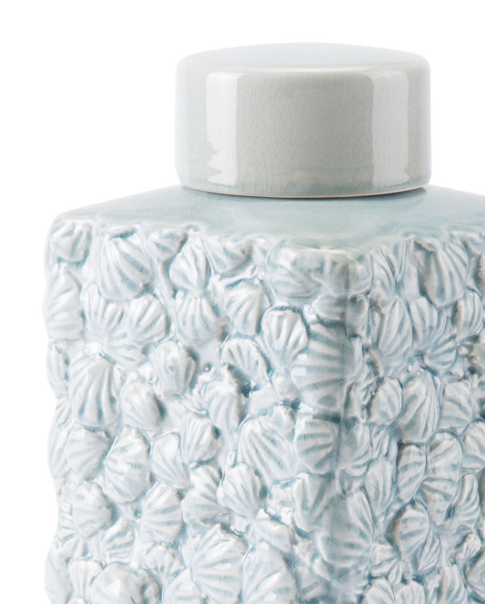 Zuo Modern Contemporary - Large Shells Covered Jar Blue