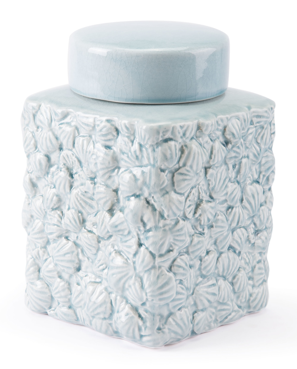 Zuo Modern Contemporary - Small Shells Covered Jar Blue