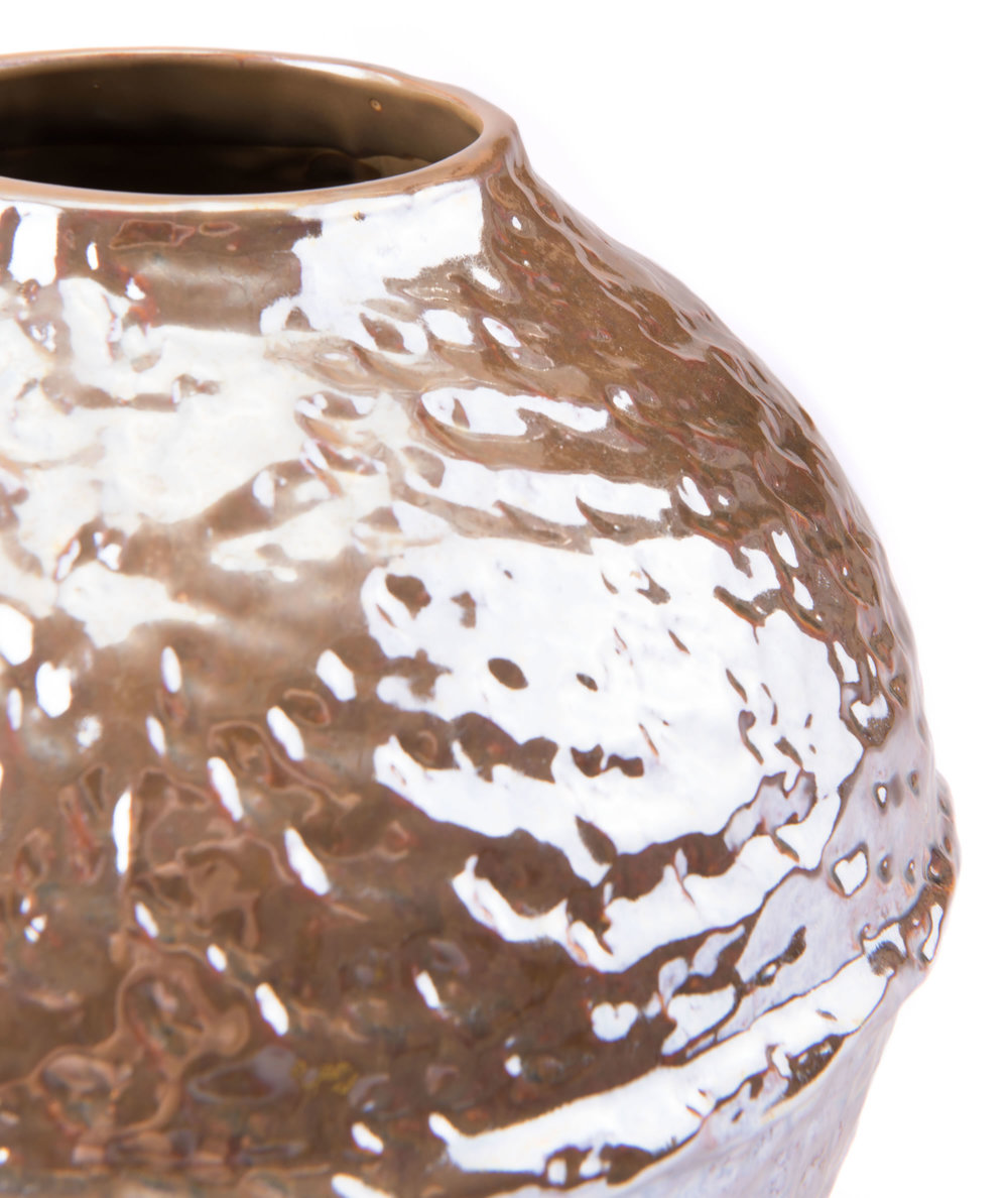 Zuo Modern Contemporary - Small Textured Vase Pearl Yellow