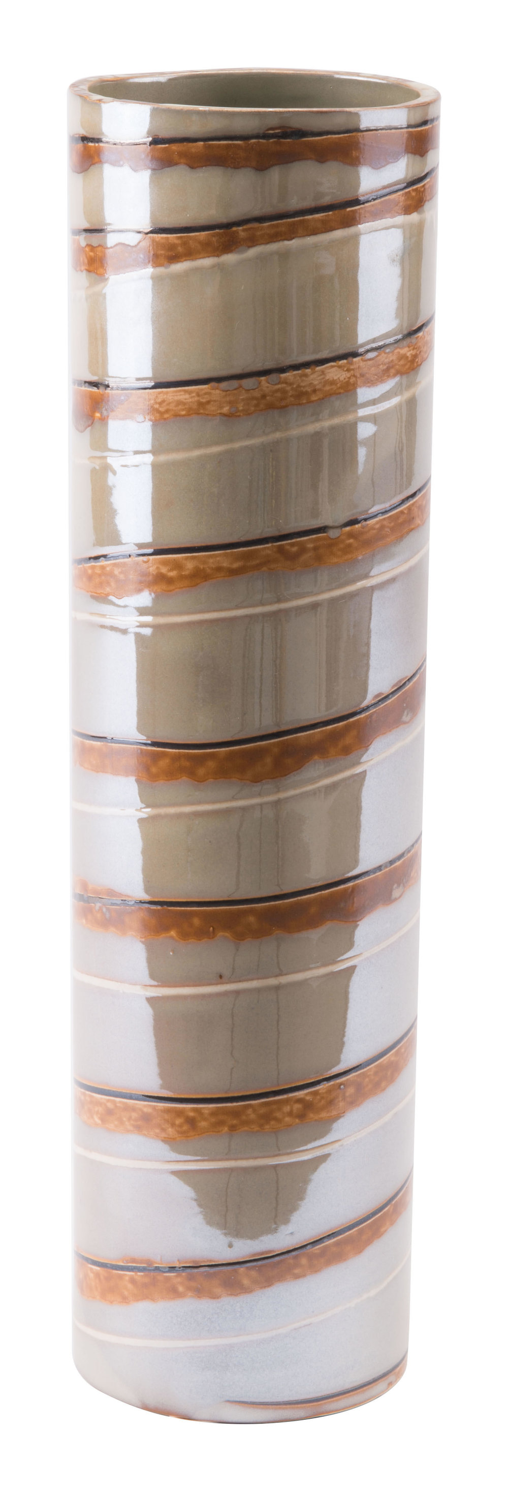 Zuo Modern Contemporary - Large Lined Vase Brown