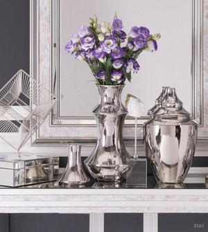 Thumbnail of Zuo Modern Contemporary - Medium Pyramid Vase Silver