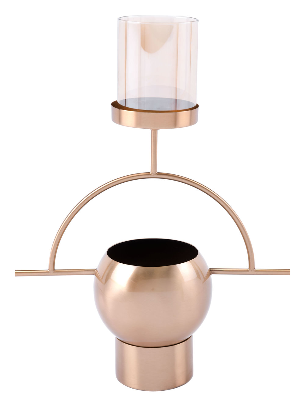 ZUO MODERN CONTEMPORARY, INC - Candle Holder Antique Brass