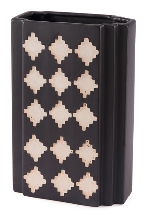 Thumbnail of Zuo Modern Contemporary - Large Pampa Rectangular Vase Black & Beige