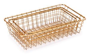 Thumbnail of Zuo Modern Contemporary - Set Of 3 Grid Baskets Gold
