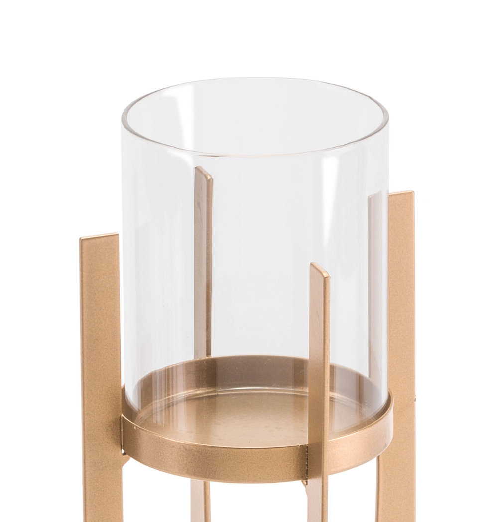Zuo Modern Contemporary - Small Equis Gold Candle Holder Gold