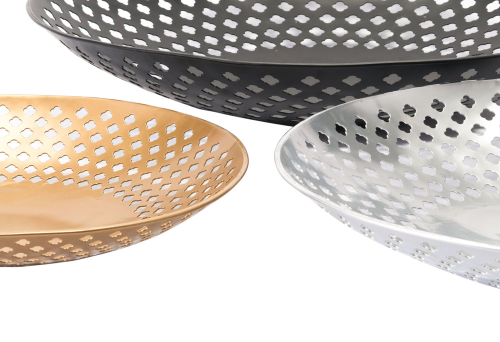 Zuo Modern Contemporary - Set Of 3 Shallow Bowls Multicolor