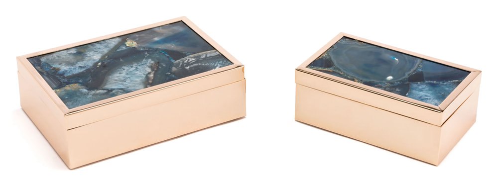 Zuo Modern Contemporary - Small Stone Box Blue