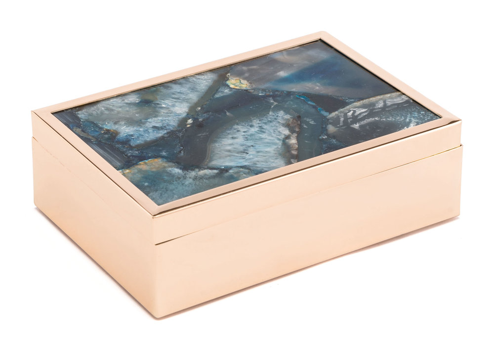 Zuo Modern Contemporary - Large Stone Box Blue
