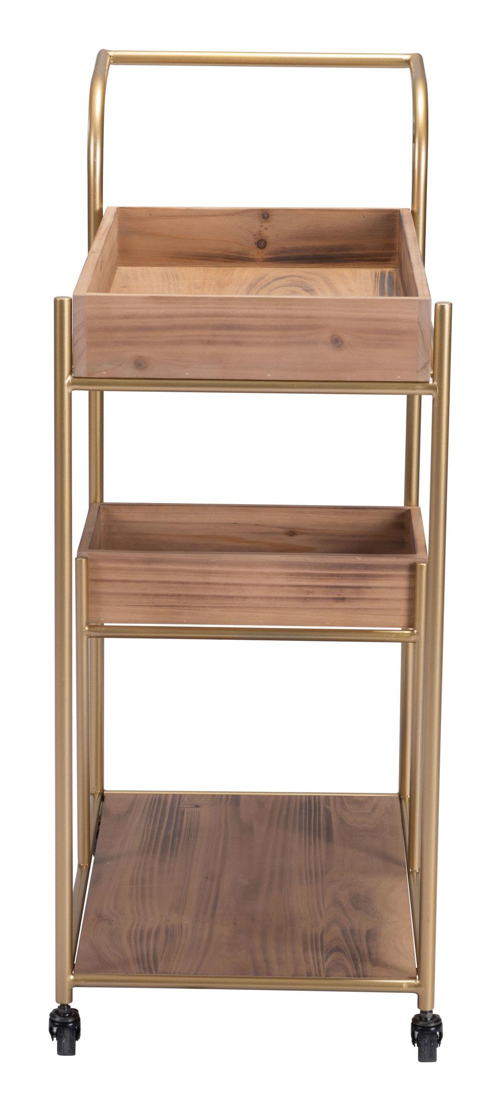 Zuo Modern Contemporary - Bar Cart & Tray Brown