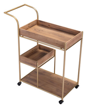 Thumbnail of Zuo Modern Contemporary - Bar Cart & Tray Brown