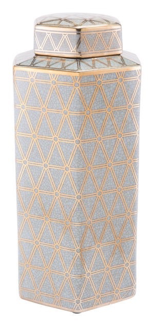 Thumbnail of Zuo Modern Contemporary - Large Link Covered Jar Gold And Blue