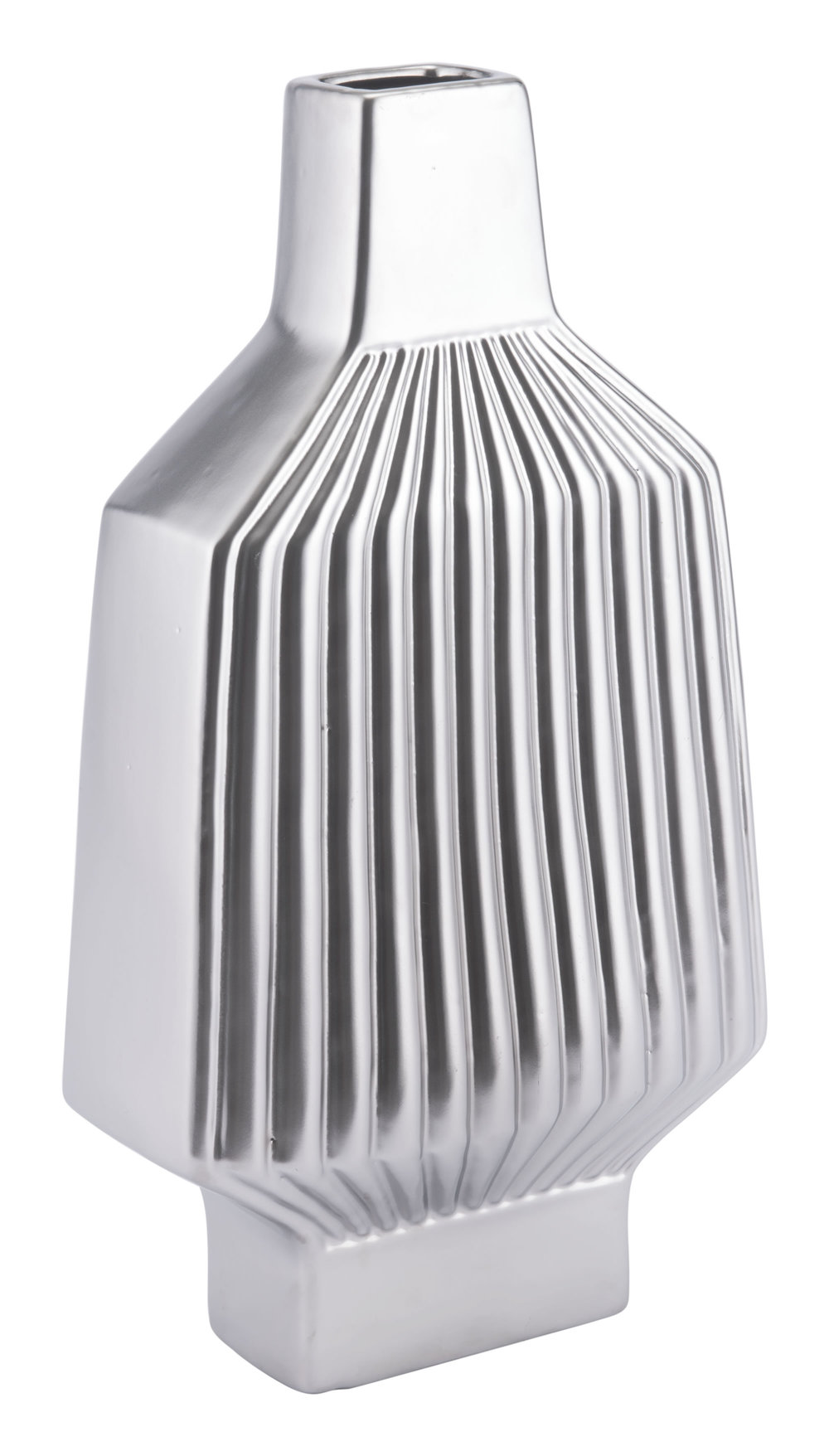 Zuo Modern Contemporary - Large Tower Vase Matte Silver