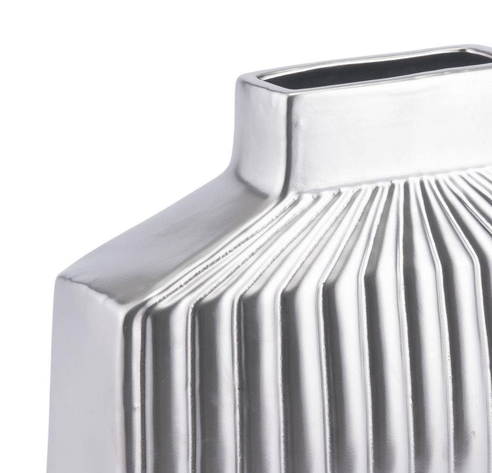 Zuo Modern Contemporary - Medium Tower Vase Matte Silver