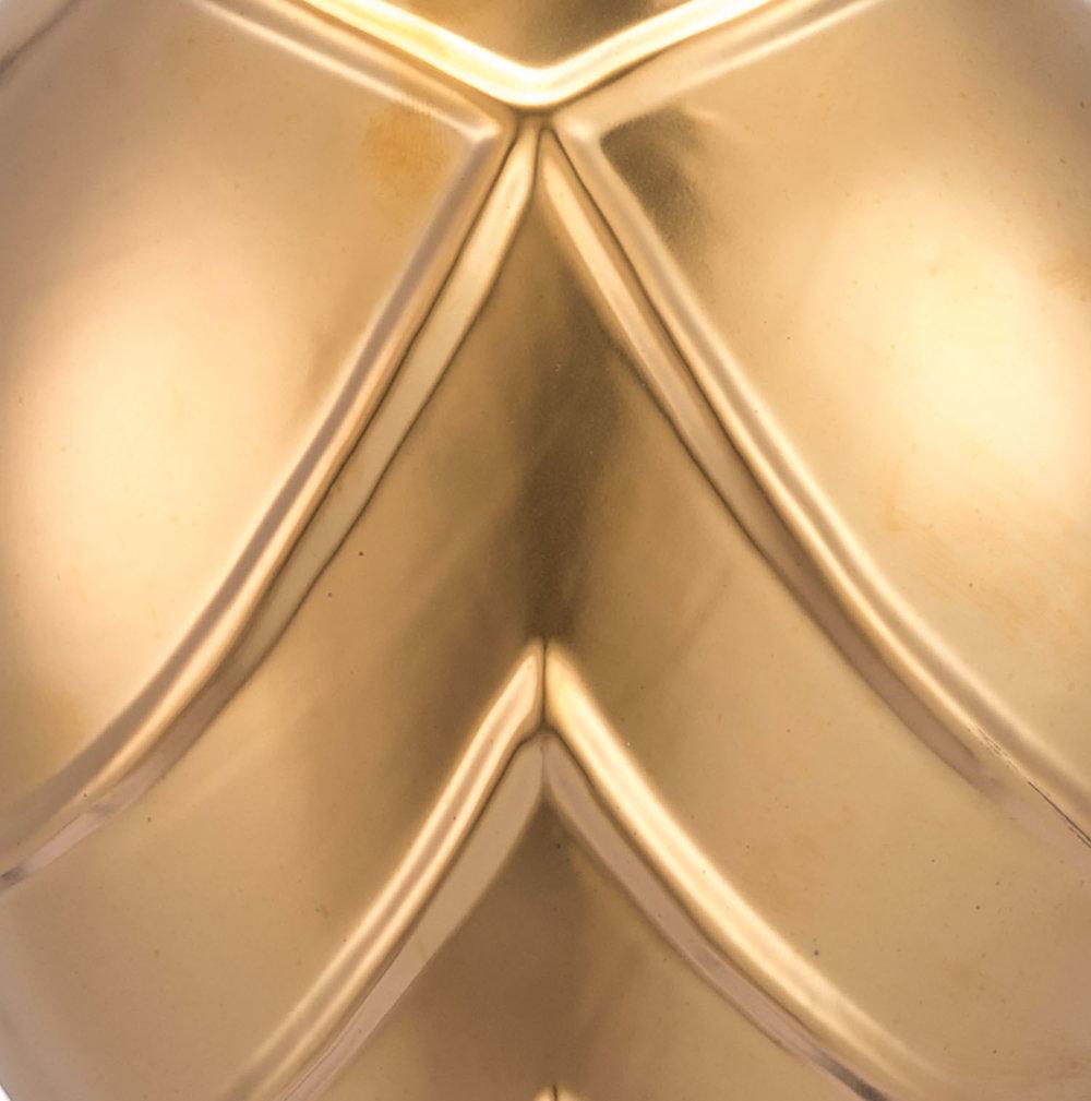 Zuo Modern Contemporary - Mini Rayas Wall Vase Matte Gold