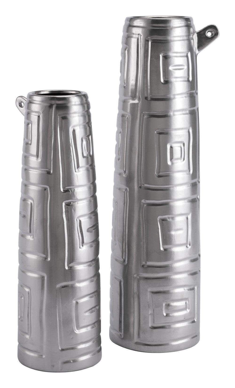 Zuo Modern Contemporary - Small Azteca Jar Matte Silver