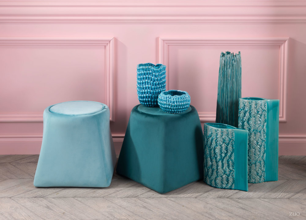 ZUO MODERN CONTEMPORARY, INC - Medium Anis Vase Turquoise