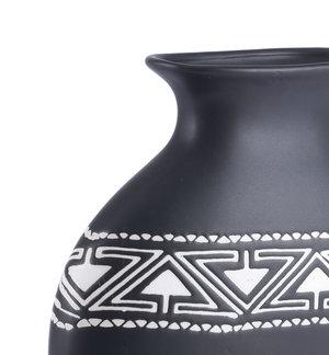 Thumbnail of Zuo Modern Contemporary - Medium Kolla Vase Black & White