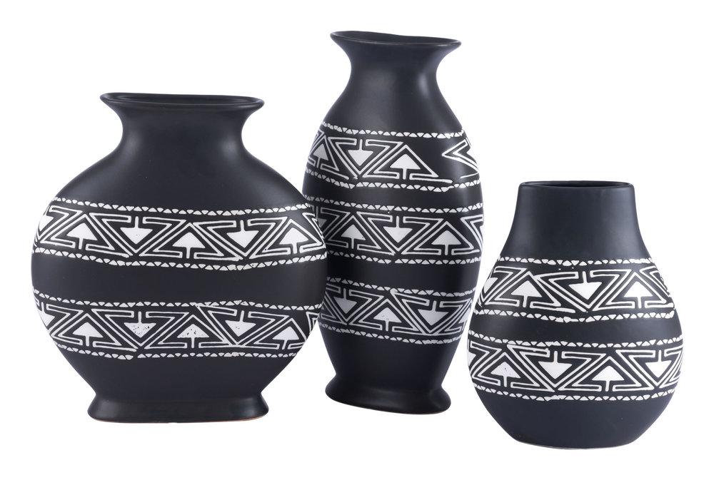 Zuo Modern Contemporary - Medium Kolla Vase Black & White