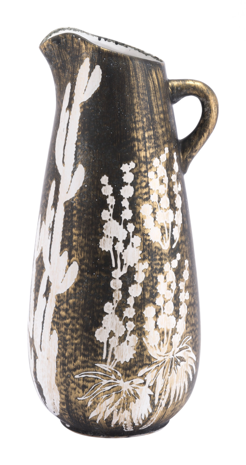 Zuo Modern Contemporary - Small Jaci Jar Antique Gold & White