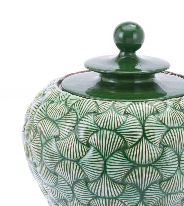 Zuo Modern Contemporary - Small Ventra Temple Jar Green