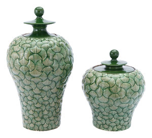 Thumbnail of Zuo Modern Contemporary - Small Ventra Temple Jar Green