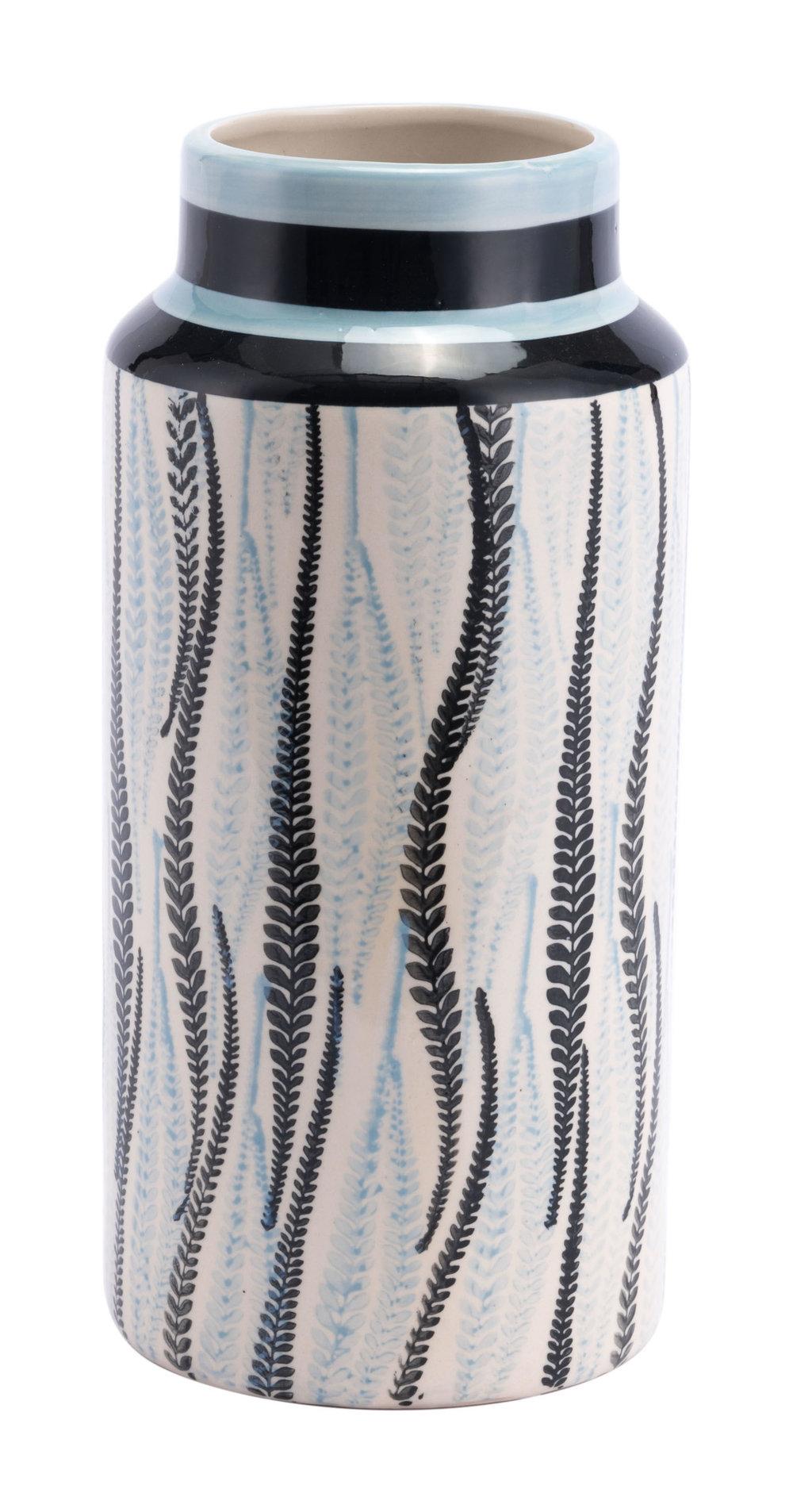Zuo Modern Contemporary - Small Espiga Vase White & Black