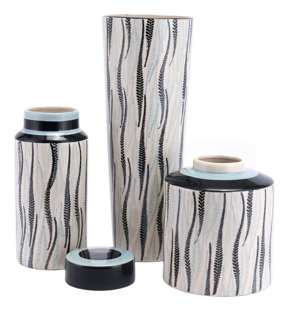 Zuo Modern Contemporary - Large Espiga Vase White & Black