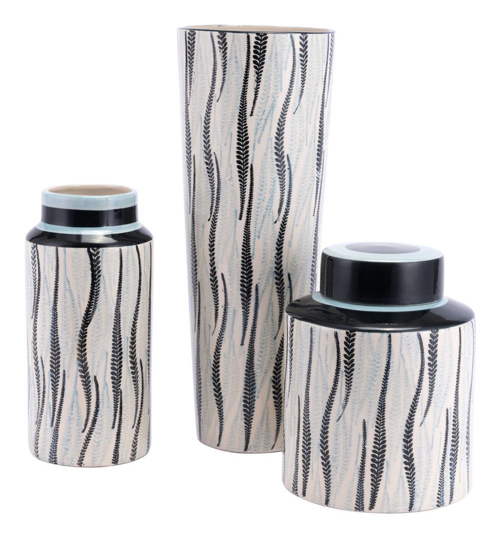 ZUO MODERN CONTEMPORARY, INC - Large Espiga Jar White & Black