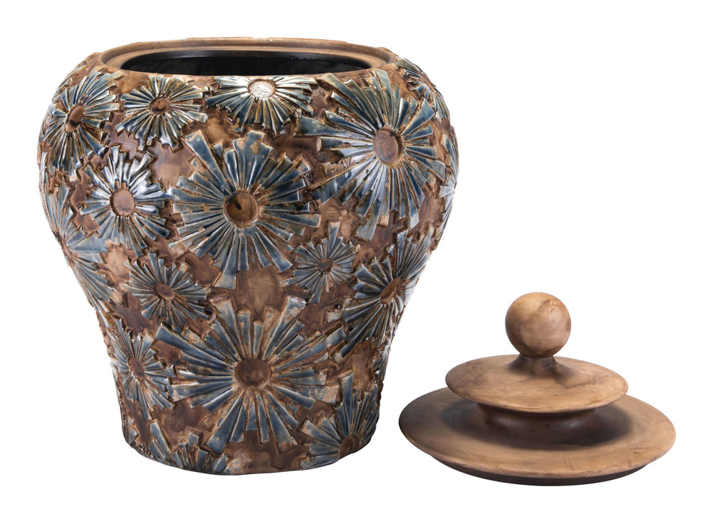 ZUO MODERN CONTEMPORARY, INC - Small Cusco Temple Jar Brown