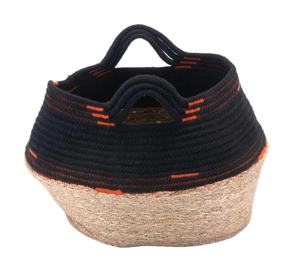 Zuo Modern Contemporary - Ife Basket With Handles Black & Beige