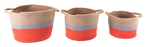 Thumbnail of ZUO MODERN CONTEMPORARY, INC - Ilesa Set Of 3 Baskets With Handles Multicolor