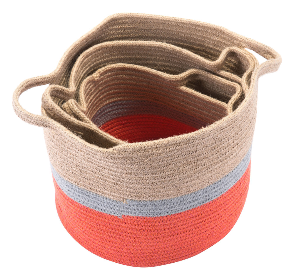 ZUO MODERN CONTEMPORARY, INC - Ilesa Set Of 3 Baskets With Handles Multicolor