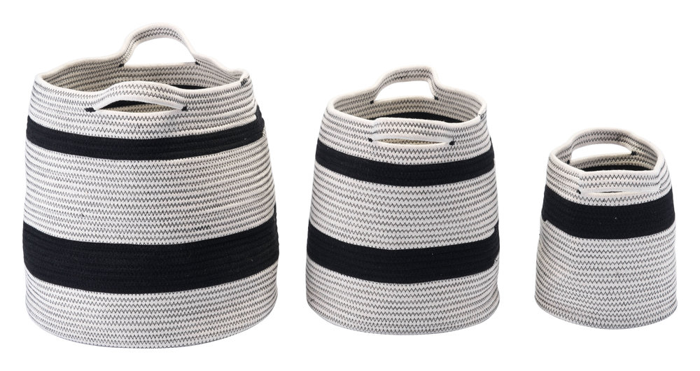 Zuo Modern Contemporary - Lafia Set of 3 Baskets with Handles