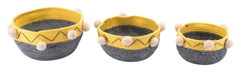 ZUO MODERN CONTEMPORARY, INC - Lagos Set Of 3 Baskets Multicolor