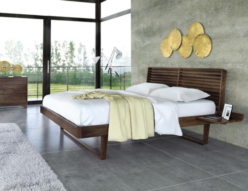 Copeland Furniture - Contour Queen Bed with Nightstands, Left & Right