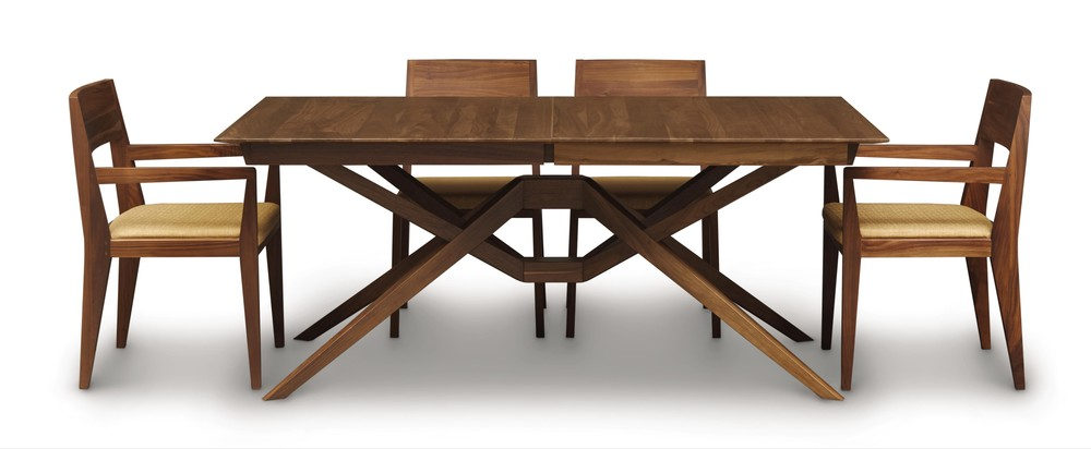 Copeland Furniture - Exeter Table with Easystow Extension/Leaf Storage
