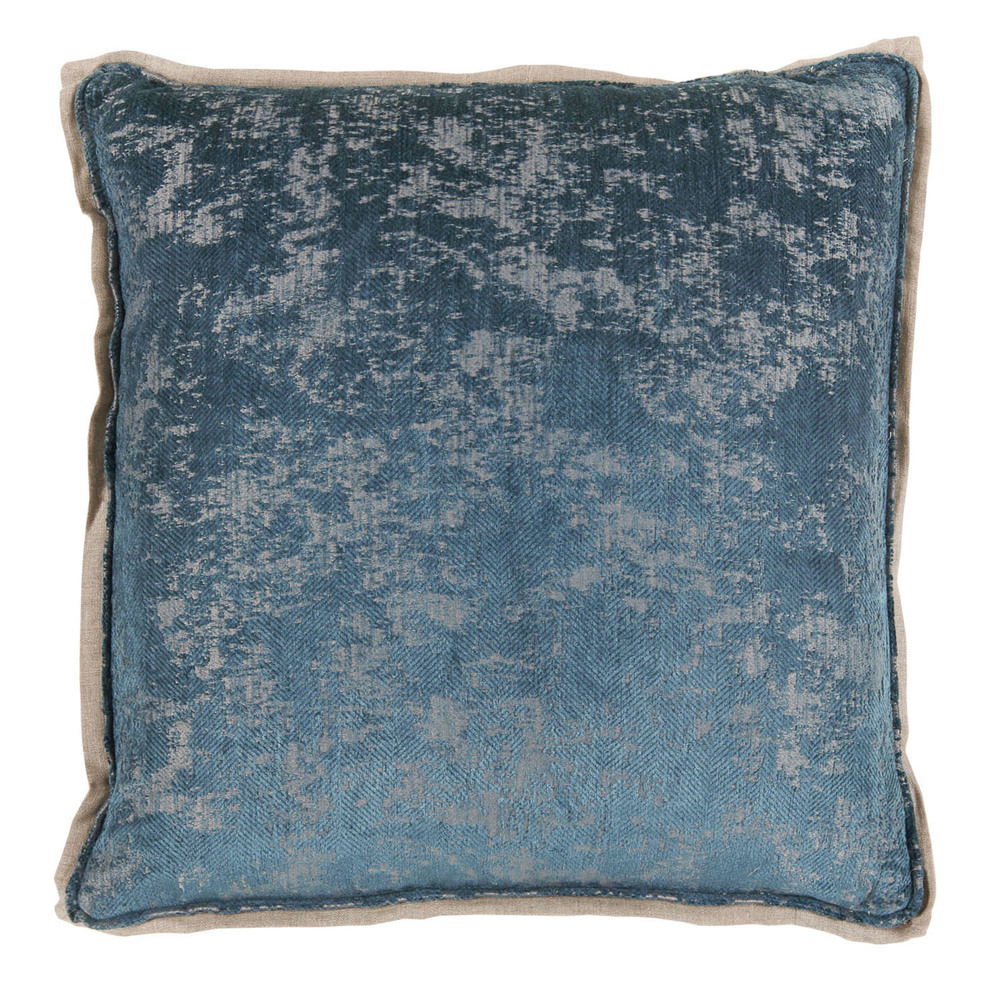 Lacefield Designs - Medici Fog Antiqued Chenille W/ Natural Linen Flange