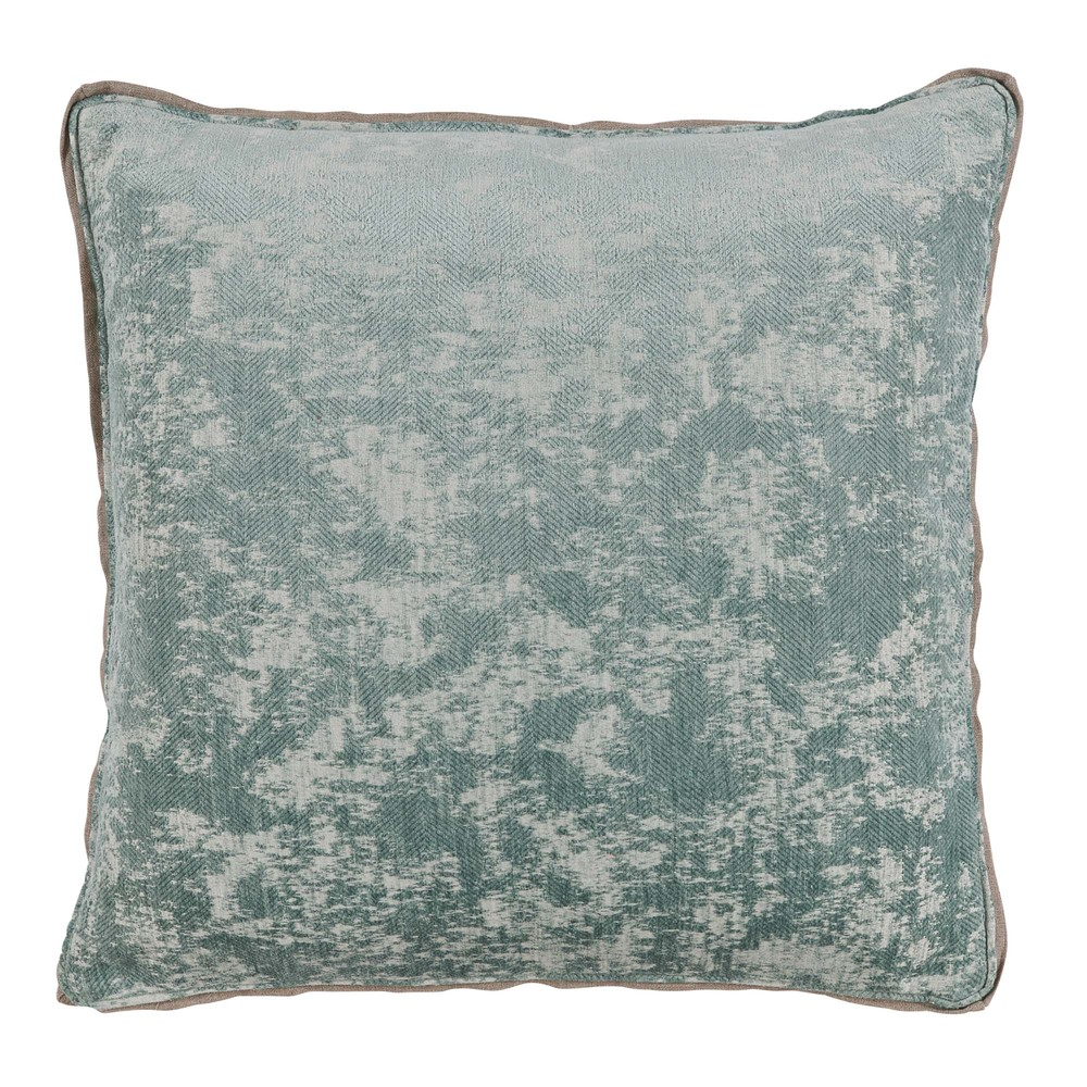 Lacefield Designs - Medici Glacier Antiqued Chenille Throw Pillow