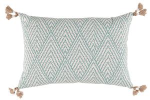 Thumbnail of Lacefield Designs - Blue Corner Tassel Chevron Pillow