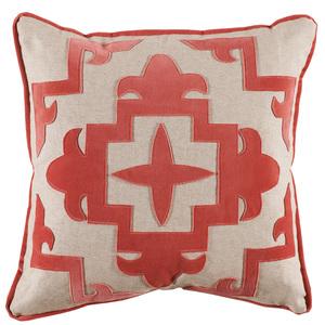 Thumbnail of Lacefield Designs - Sultana Appliqué Coral Velvet/Heavy Basket